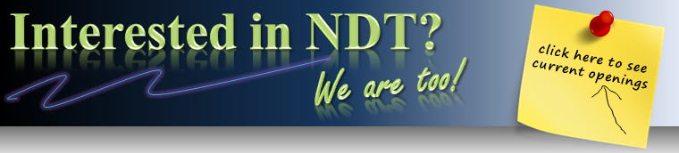 Why consider NDT testing as a career.
